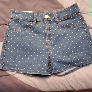 Cute polka dot shorts
